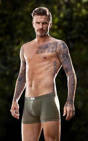 Beckham posa para a campanha da H&M