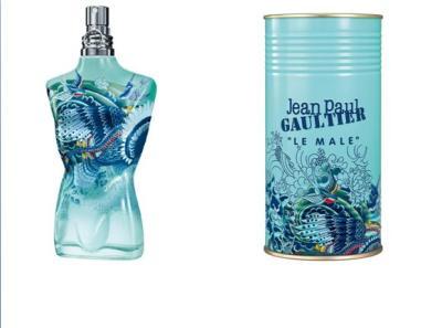 O novo frasco e a nova embalagem de Le Male
