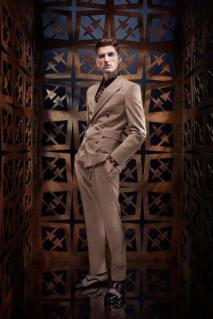 01 _ Sapato masculino bicolor Roberto Cavalli _ Verão 2014