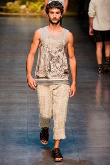 07 _ Sapato masculino aberto Dolce Gabbana _ Verão 2014